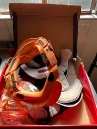 Protetor de pescoço red dragon, colete asw e capacete jett.