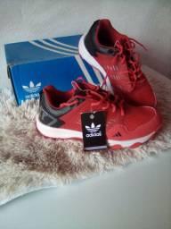 Tênis Adidas Kanadia Masc verm/Bran Tam 39