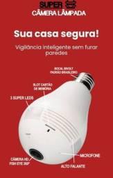 Câmera lâmpada espiã Wi-Fi 360