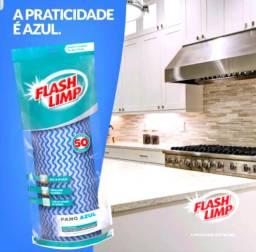 Rolo de Panos Reutilizáveis Multiuso Flash Limp