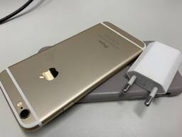 Iphone 6 - 16 GB - Branco c/Dourado + carregador