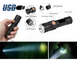 lanterna led usb com bateria manual