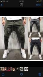 Vendo linda calça moletom masculina tam M na cor cinza
