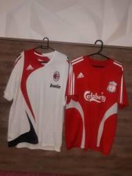 02 camisas originais tamanho M usadas 120 reais
