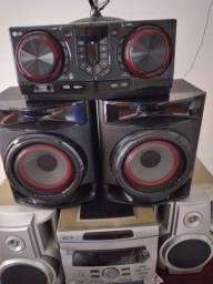 Caixa de som completa LG com 1 mês de uso