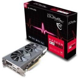 Placa de video Rx 580 8Gb 256 bits Sapphire semi nova com garantia e NF