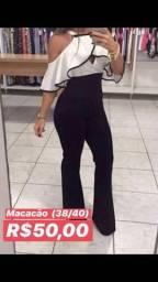 Blusa short macacão