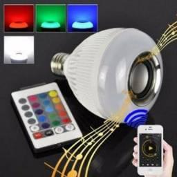 Lampada Led e Caixa Som Bluetooth