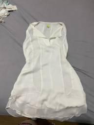 Vestido branco Farm M