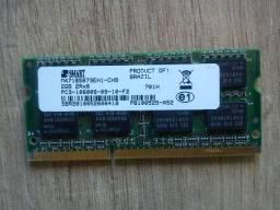 Memória Ram DDR 3 2 gb para notebook marca Smart