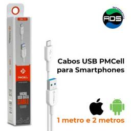 Cabos USB para Smartphones Android e iPhone