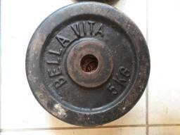 01 Anilha de 05kg para musculação