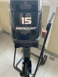 Motor de popa Mercury novo 15hp