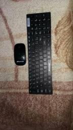 CPU zerado mouse e teclado sem fio troco por roupa de exército