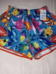 Lindos shorts infantis, a partir de R$10,00
