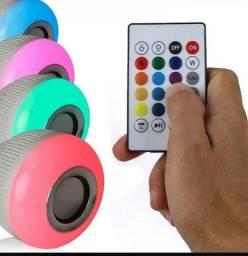 Lâmpada Led Bulbo 12w Rgb Controle Bluetooth Mp3 Toca Música