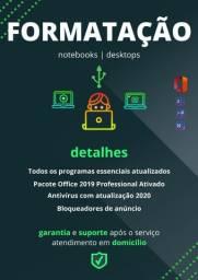 Formatação de Computadores em domicílio C / Office 2019 Ativado