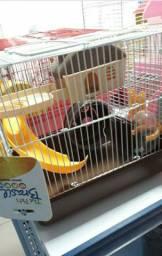 Gaiola para Hamster Marrom e Rosa- Entrega grátis