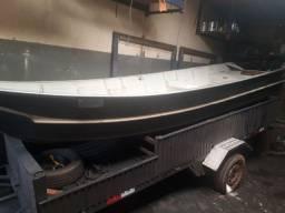 canoa com carretinha reboque