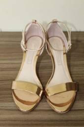 sandália CAPODARTE  n 34 cor cobre