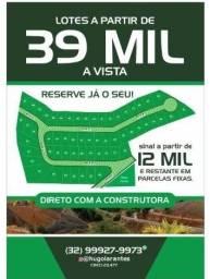 Loteamento Ascar , Piau-MG, 39 mil á vista, lote de 300 m²
