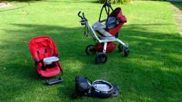 Carrinho Bebê + Bebê Conforto + Base Carro