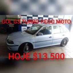 GOL 16V TURBO DE FABRICA G3 COMPLETO (PEGO MOTO) BANCOS RECARO HOJE
