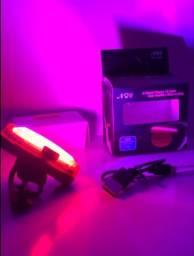 Luz de bicicleta bike de LED com cabo USB recarregável