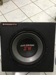 Caixa com sub audiobank sw