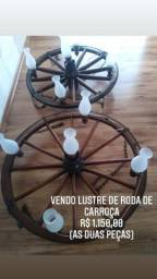 Lustre de roda de carroça