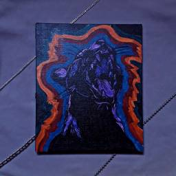 Pintura acrílica Felino