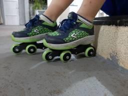 Vendo patins infantil unissex, sai as rodas e vira tênis- CIANORTE PR