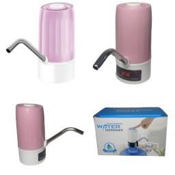 Bebedouro Bomba Elétrica P Garrafão Galão Água Recarregável Rosa