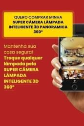 Lâmpada Câmera Espiã wifi 360° Super Câmera