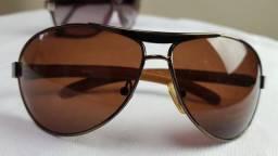 Óculos de Sol Feminino lente dourada estiloso óculos de Luxo