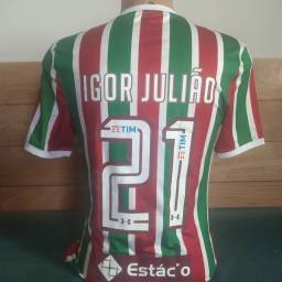 Camisa do Fluminense usada pelo Igor Julião