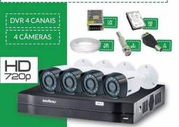 Câmeras Intelbras kit com 4
