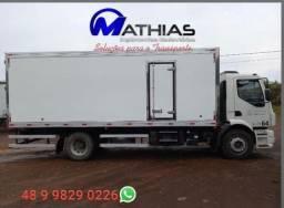 baus  refrigerados novos toco 12 palete Mathias implementos