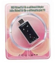 Adaptador USB 2.0 Externo 7.1-Canais