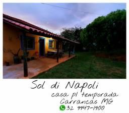 Casa para temporadas Carrancas-Minas Gerais