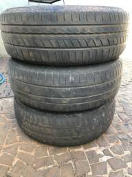 Vendo 3 pneus 185/60 roda 15