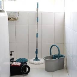 Mop Fit Giratório 3 em 1 com Esponja Multiuso - Fun Clean