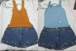 Novas! Nunca usadas! Blusas Femininas - TAM Único - Finas de Linho e Tricot