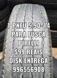 1 pneu do Fusca 5.90-14 Pirelli. Disk entrega
