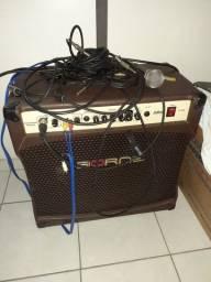 Amplificador Cubo Borne P/ Violao E Voz 100w Infinit Cv12100