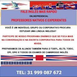 Fale Inglês Mais Rápido. Professores Nativos E Experientes  Online / Presenciais