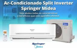 Ar Split Springer Midea Inverter 9.000 BTUs + Wi Fi + Nota + Garantia + Aceito Cartão