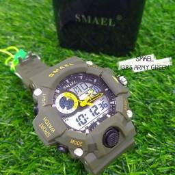 Relógio Masculino Smael Army Green