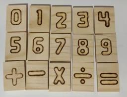 2 Jogos De Números 0 a 9 e os sinais par fazer contas Educativo Pedagógico Madeira