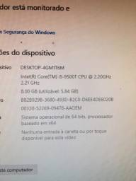 Vendo processador i5 9500t com vídeo